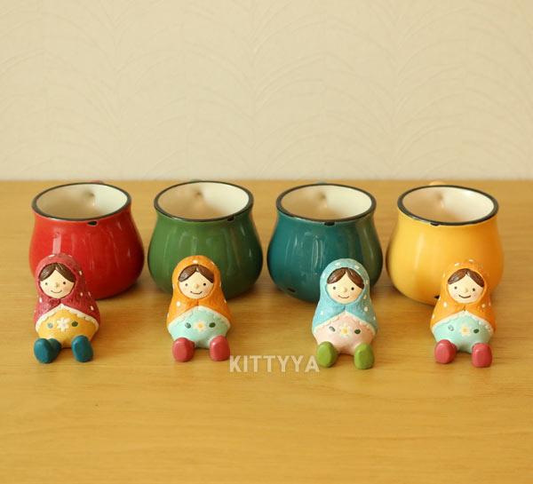 Maly Orul 마트료시카 미니돌 & 머그 (4color) - 키티야, 9,970원, 장식소품, 엔틱오브제