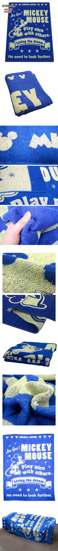 미키마우스/미니마우스 타올 블랭킷 - 키티야, 66,600원, 담요/블랑켓, 케릭터/일러스트