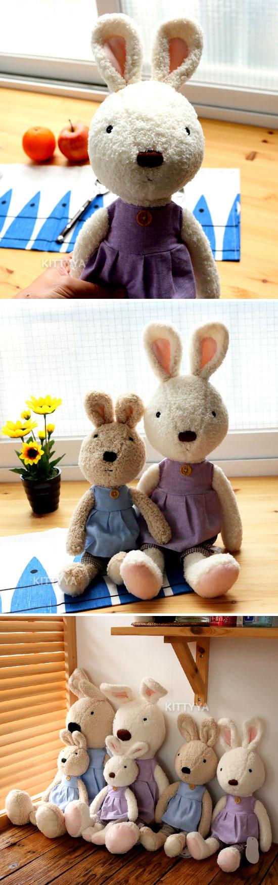 르슈크레 토끼 튜닉인형 대 L (2color) - 키티야, 45,000원, 캐릭터인형, 르슈크레
