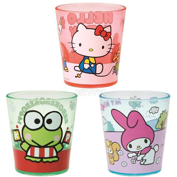 산리오제팬 캐릭터 아크릴컵 (280ml)(3design) - 키티야, 8,400원, 머그컵, 플라스틱 컵