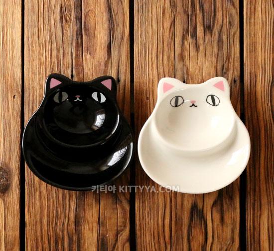 고양이 삼형제 2절 소스접시 (2color) - 키티야, 13,800원, 접시/찬기, 접시
