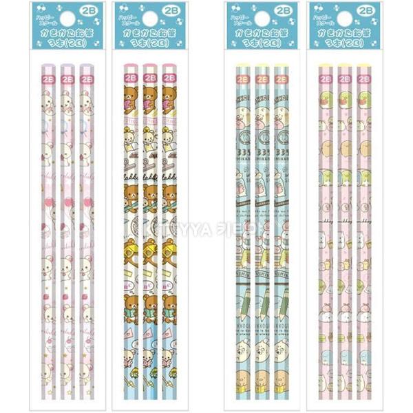 리락쿠마/스밋코구라시 2019 해피스쿨 3P 연필 (2B) - 키티야, 4,400원, 연필, 연필세트