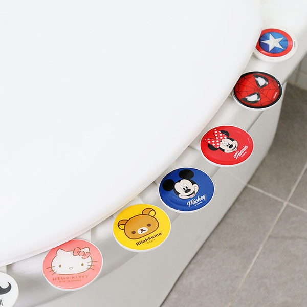 디즈니 캐릭터 변기커버 위생 손잡이 (택1) - 키티야, 2,800원, 변기용품, 변기커버