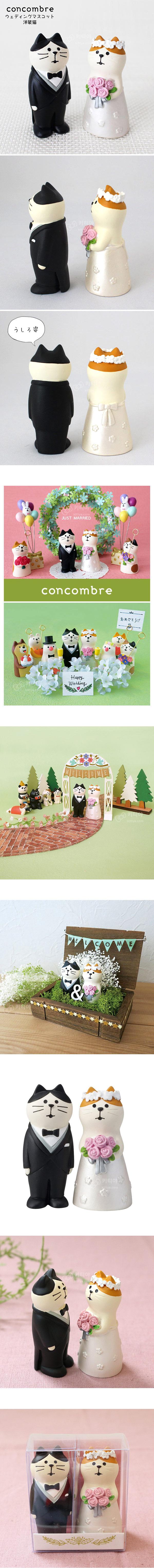 데꼴 해피웨딩 고양이 신랑신부 커플 - 키티야, 21,300원, 장식소품, 기타 소품