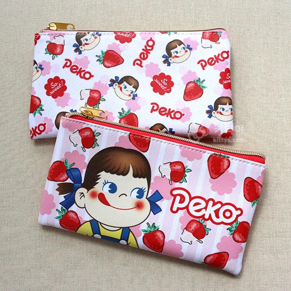 페코짱 플랫 파우치 (딸기)(택1) - 키티야, 16,300원, 다용도파우치, 지퍼형